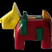 Scottie Dog Key-ring Puzzle / Vintage Puzzle / Plastic Scottie / Vintage Scottie / Collectible
