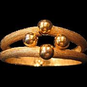Crown Trifari Gold-tone Clamper Bracelet / Stylish and Elegant Trifari Bracelet / Vintage Jewe