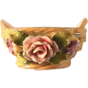 Elfinware Basket / Open Salt Cellar / Yellow Luster Basket