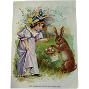 Vintage Easter Advertising Card / Trade Card / Coffee Advertising Card / Lion Coffee / Seasona