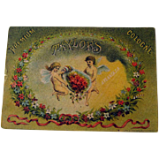 SOLD Cologne Advertising Card / cologne Trade Card / Cherubs Card / Angels Card / Ephemera / V