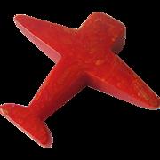 Bakelite Airplane / Bakelite Pencil Sharpener / Collectible Bakelite / Vintage Pencil Sharpene