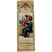 Bookmark Advertising Card / Vintage Trade Card / Collectible Advertising Card / Ephemera / Chi