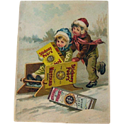 Vintage Advertising Card / Stickney & Poors Mustard Advertising Card / Vintage Trade Card / Ep