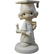 Girl Graduate Precious Moments Figurine Entitled: The Lord Bless You and Keep You / Collectibl