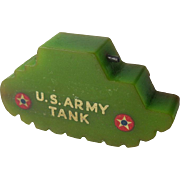 Bakelite Army Tank Pencil Sharpener / US Army Tank Sharpener / Keep 'em Rolling / Collectible