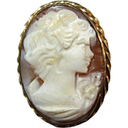 SALE Shell Cameo Gold Filled Bezel Beautifully Detailed