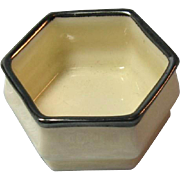 Lenox American Belleek Open Salt with Silver Trim / American Belleek / Open  Salt / Salt Cella