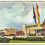 Postcard of The Second Section of the Livestock Building at Texas Centennial Exposition, Dalla