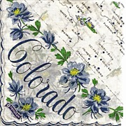 SOLD Lovely Franshaw Colorado State Hankie