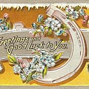 Good Luck Horseshoe Post Card
