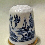 SALE PENDING Blue Willow Thimble