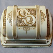 SOLD Vintage Double Wedding Engagement Ring Box - John Alden and Priscilla