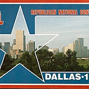 Postcard from the Republican National Convention Dallas Texas 1984