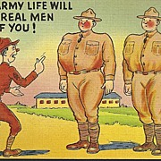 SOLD Vintage Army Postcard - World War II