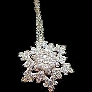 Swarovski Snowflake Necklace