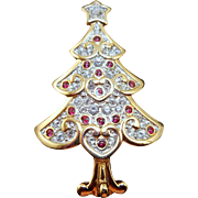 Swarovski Christmas Tree Brooch