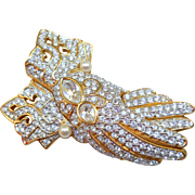 Swarovski Gloves Brooch