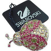 Swarovski Ladybug Pin
