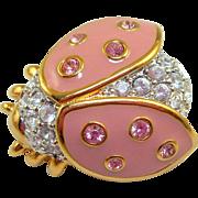 Swarovski Pink Ladybug Pin