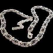 Napier Red Rhinestone Necklace