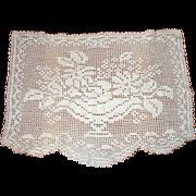 SOLD Flower Basket Filet Lace