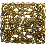English Victorian Brooch with Birds