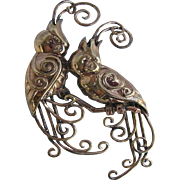 Marcel Boucher Parisina Double Cockatoo Brooch