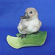 SOLD Boehm Cygnet Sitting on Lily Pad - Signed!