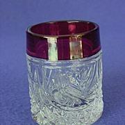 SOLD Hofbauer Byrdes Schnapps / Shot Glass Set