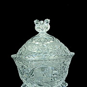 SOLD Hofbauer Byrdes Crystal Covered Candy Dish