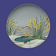 Birds & Flowers of the Orient Plate: Wren & Narcissus
