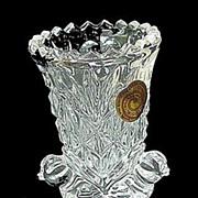SOLD Byrdes Crystal Toothpick Holder / Bud Vase