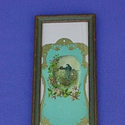 Framed Victorian Advertising w/ Barn Swallows