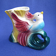 Vintage American Bisque Bird of Paradise Planter