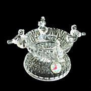 SOLD Byrdes Crystal Bird Bath Candleholder / Trinket Dish