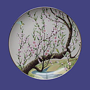 Franklin Mint White-eye and Peach Oriental Plate