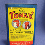 Vintage Tonax Chicken 'n Turkey Conditioner Tin w/ Contents