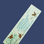 Turn of the Century Advertising Shoe Store Bookmark w/ Wren
