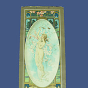 SOLD 1905 Anheuser-Busch Art Calendar Print: Lady w/ Birds