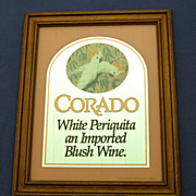 SOLD 1980's Corado Advertising Mirror w/ Cockatoos