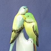 SOLD Vintage Hollohaza Hungary Parakeet Pair