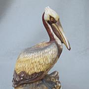 SOLD Napcoware Hernando Castelnuovo Brown Pelican Figurine
