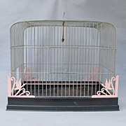 SOLD 1940's-50's Metal Birdcage w/ Duck Motif - Red Tag Sale Item