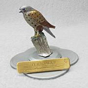 Miniature Pewter Kestrel Figure from Germany