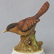 SOLD Vintage Lefton China House Wren Figurine KW1184