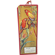 SOLD Macaw Parrot Advertising Calendar from 1940