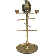 Victorian Cockatoo Bobbin Jewelry Pocket Watch Holder Candelabra