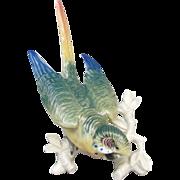 Pre WWII ENS Germany Porcelain Parakeet Budgie