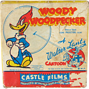 Woody Woodpecker 8mm Cartoon Film Solid Ivory